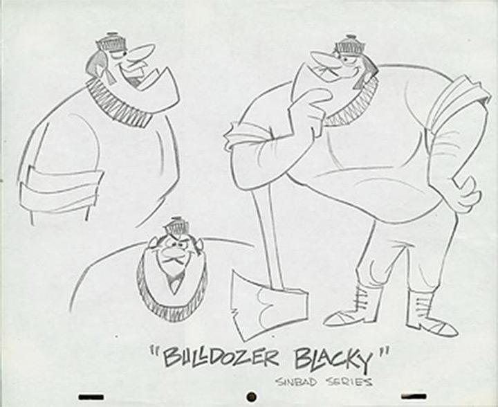bulldozer blacky hanna barbera model sheet