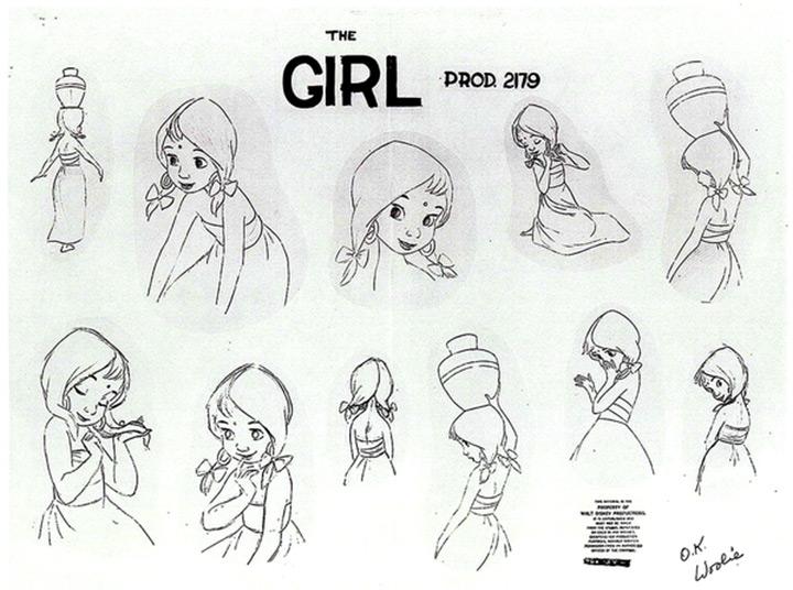 the girl jungle book model sheet